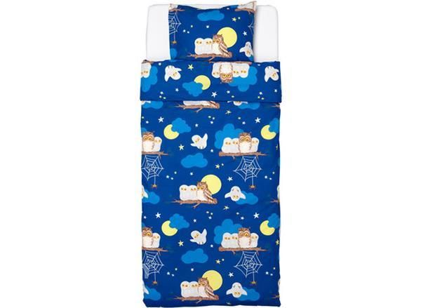 Night Owl Print 2-Piece Soft Cotton Duvet Cover Sets