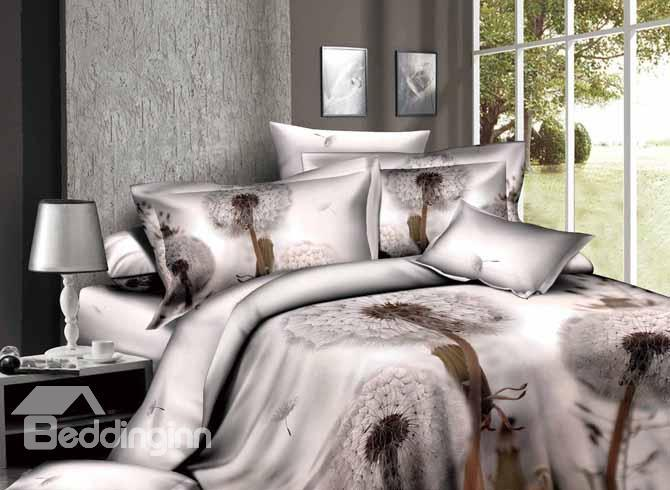 Pristine Beauty Dandelions 4 Piece Active Print Bedding Sets With Cotton 10486354)
