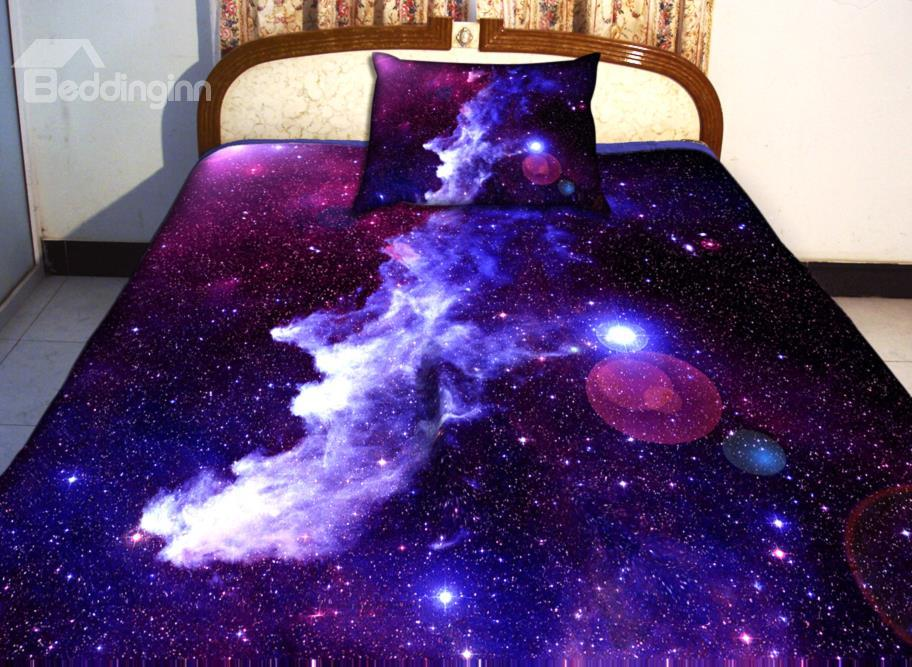 Amazing Purple Galaxy Print 4-Piece Duvet Cover Sets