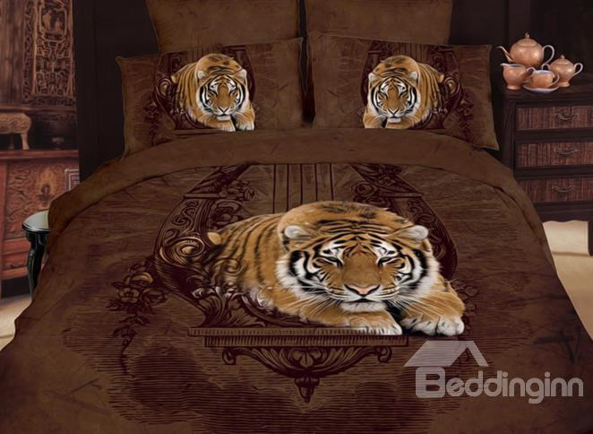 Stunning Smart King Print 4-Piece Cotton Duvet Cover Sets