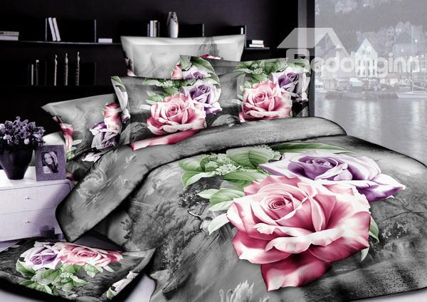 New Arrivals Modern Style With High Quality 4 Pieces Bedding Sets