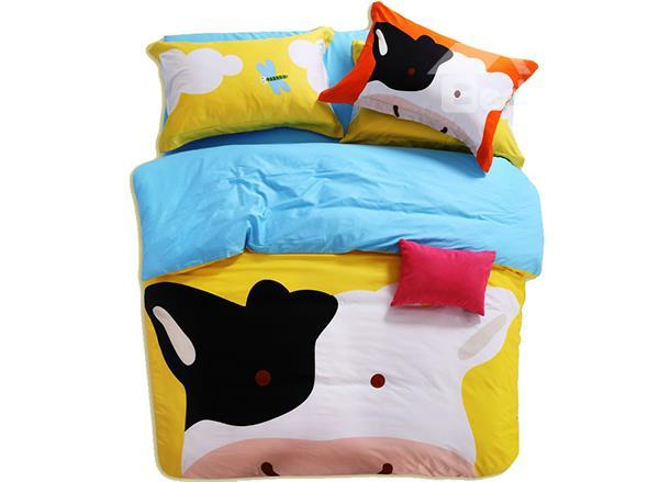 Skincare Pure Cotton Cow Print 3-Piece Kids Duvet Cover Sets