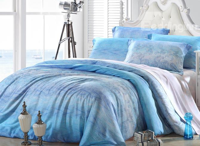 High Quality Graceful Patterns 4 Pieces Tencel Bedding Sets