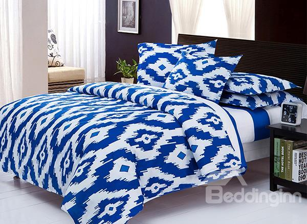 Gorgeous Diamond Pattern 4-Piece Polyester Duvet Cover Sets
