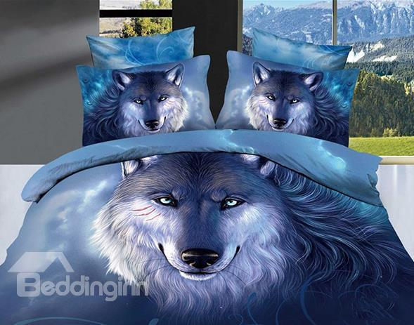 High Quality Unique Wolf Printed 3d Oil Painting Bedding Sets 10523740)