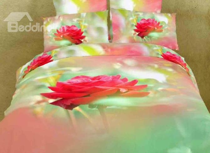 Close-Up Red Peony Print 3d Duvet Cover Sets