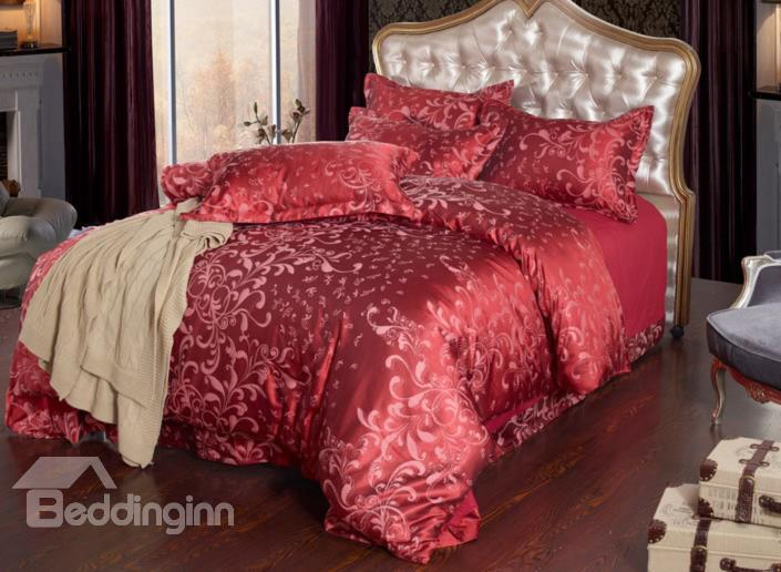 Luxury Elegant Medallion Pattern 4-Piece Duvet Cover Sets