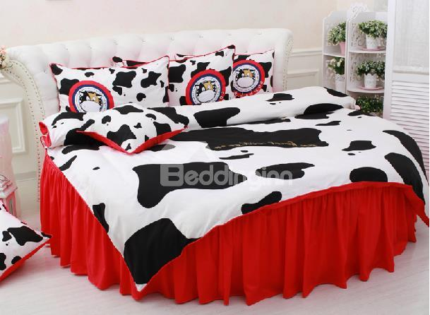 New Arrival Lovely Cow Printing 6-Piece Cotton Duvet Cover Sets