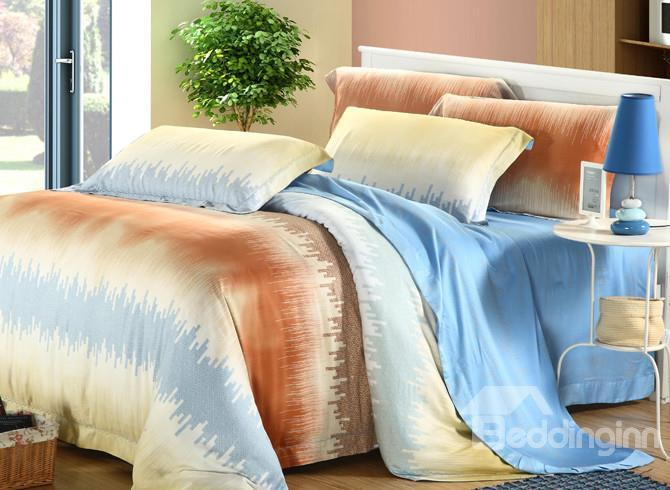 High Quality Comfortable Fresh And Elegant 4 Pieces Tencel Bedding Sets