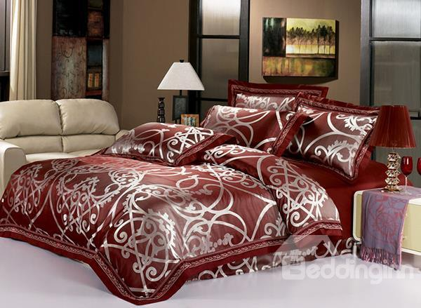 Geometric Pattern 4 Piece Tencel Duvet Cover Sets