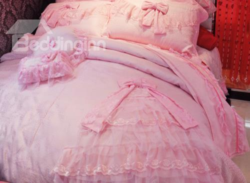 Lovely Princess Dress Trim 4-Piece Duvet Cover Sets
