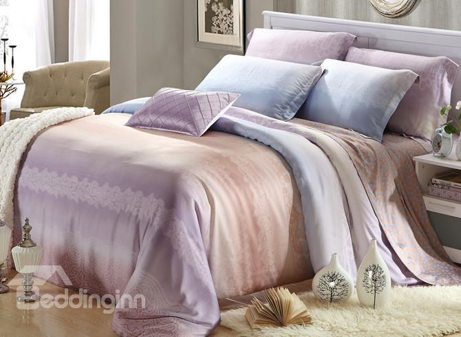 High Quality Comfortable Gorgeous 4 Pieces Tencel Bedding Sets
