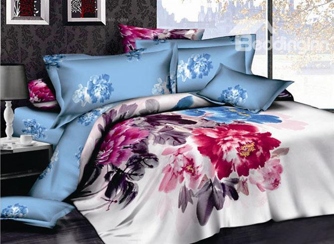 4 Piece Cotton Bedding Sets With Chinese Ink 10489415)
