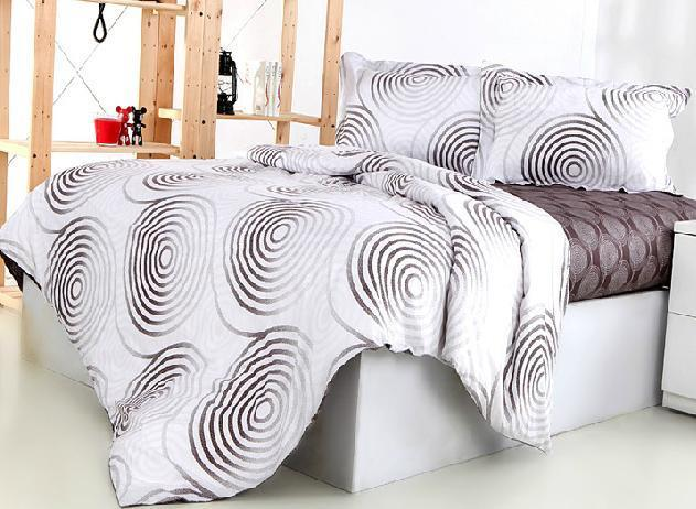 Fashion Concise Circle Pattern 4-Piece Cotton Duvet Cover Sets