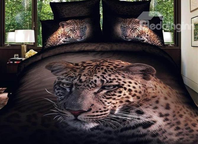 Very Cool Leopard Head Close-Up 3d Duvet Cover Sets