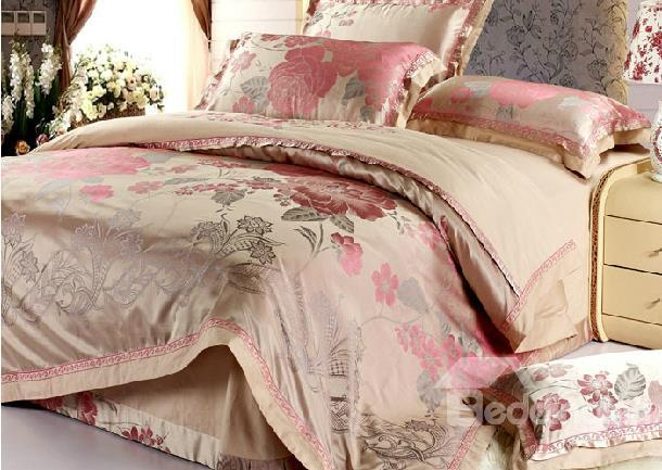 Best Home Fashion Beautiful And Elegant Floral Printing Duvet Cover Sets