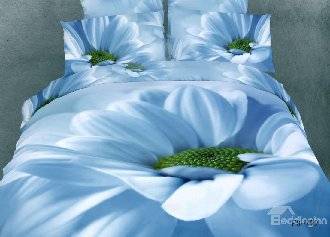 New Arrival Big Sunflower Print 3d Bedding Sets