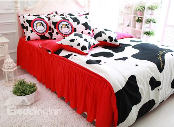 Top Class Cow Print 6-Piece Cotton Duvet Cover