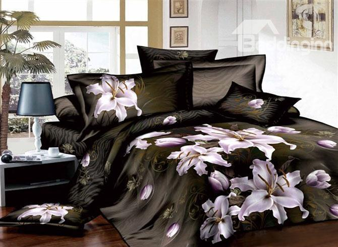 Tempting Flower Sea And Cane Stripe 4 Cotton Bedding Sets Of Princess 10489676)