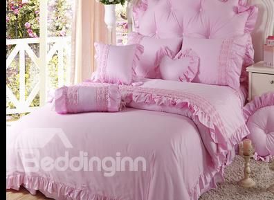 Igh Quality Elegant Princess Style 4-Piece Cotton Duvet Cover Sets
