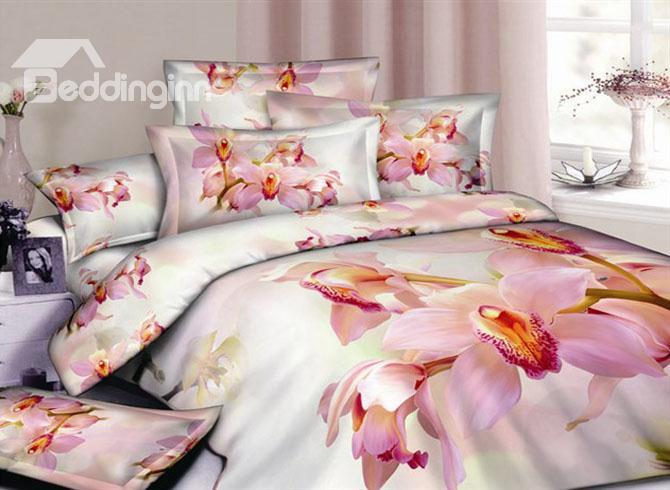 4 Piece Cotton Bedding Sets Printting The Warm Large Flowers 10489909)