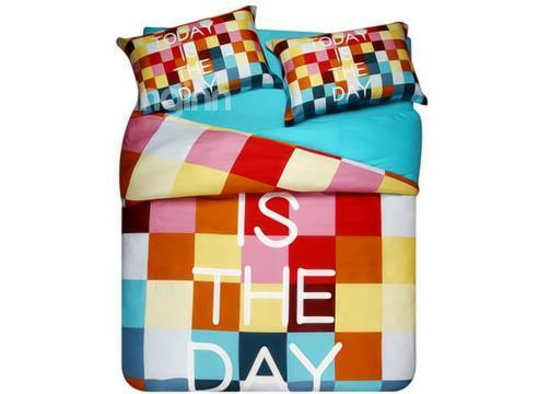 Gorgeous Colorful Letter Pattern 4-Piece Cotton Duvet Cover Sets
