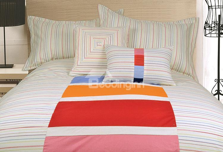 Top Selling Concise Style 100%Cotton 4-Piece Duvet Cover Sets