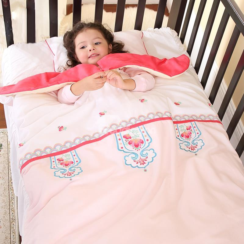 Super Romantic Pink Flowers Stripes Baby Sleeping Bag