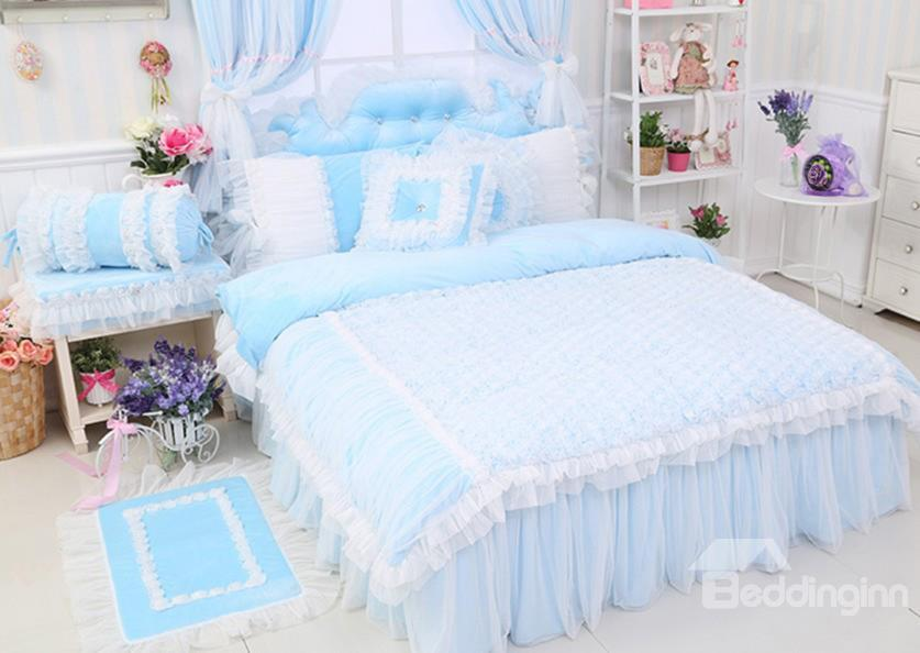 High Quality Charming Crystal Velvet 4 Piece Bedding Sets