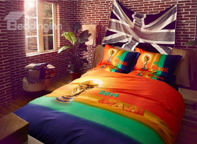 The Brazilian World Cup Holy Grail 4-Piece 3d Duvet Cover Sets