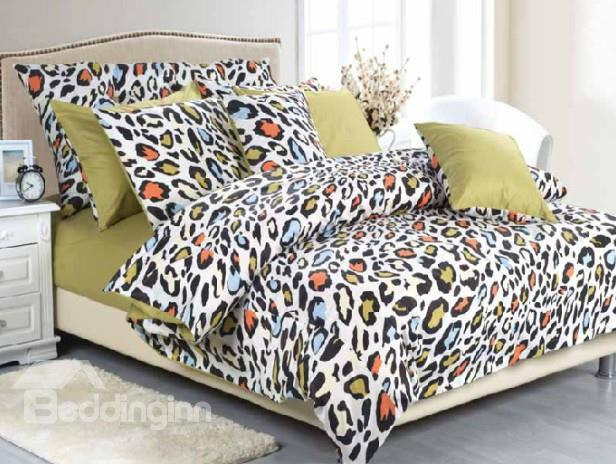 Classic High Quality Sexy Leopard Print 4 Piece Bedding Sets/Duvet Cover Sets