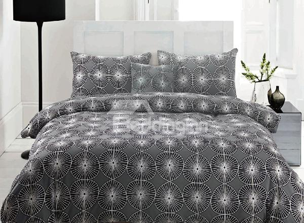 Jewels Dandelion Pattern 4-Piece Reversible Long-Stapled Cotton Duvet Cover Sets