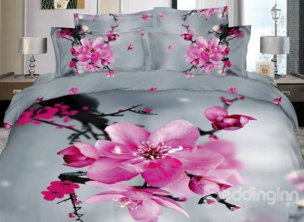 New Arrival Ink And Wash Style Print 4 Piece Bedding Sets/Duvet Cover Sets