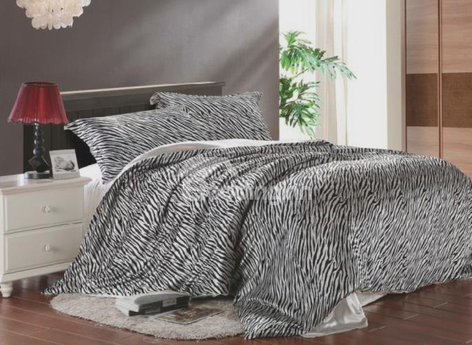 Modern Zebra Print 4-Piece Tencel Duvet Cover Sets