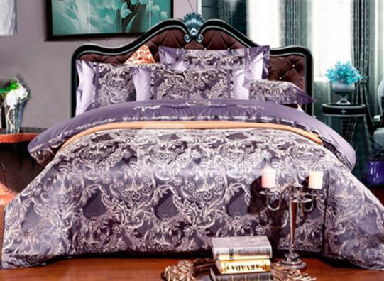 Passionate Marcella Satin Jacquard 100%Cotton 4-Piece Duvet Cover Sets