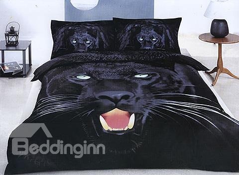 Top Class 4-Piece Black Panther Print 3d Bedding Sets 10489864)