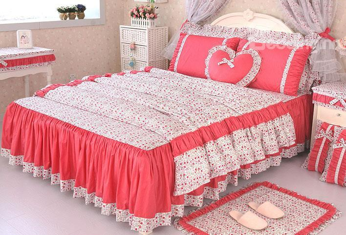 New Arrival High Quality 100 Cotton 4-Piece Lace Duvet Cover Sets