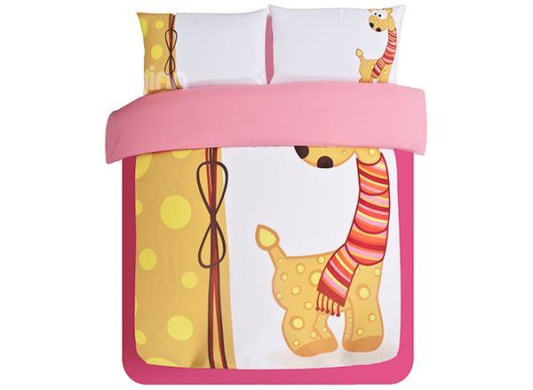 So Cute Deer Print 3-Piece Skincare Duvet Cover Sets