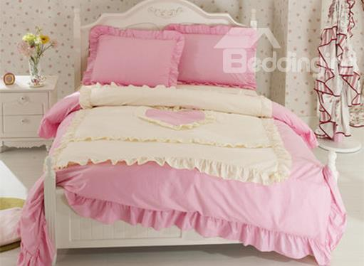 New Arrival Korean Style Elegant 100%Cotton Duvet Cover Sets