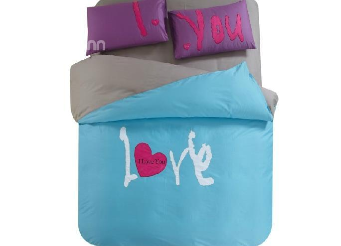 New Arrival Unique Couple Concise Style 4-Piece Cotton Duvet Cover Sets
