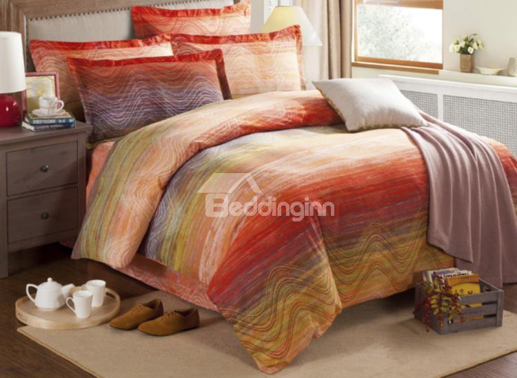 Colorful Oil Painting 4-Piece Cotton Duvet Cover Sets