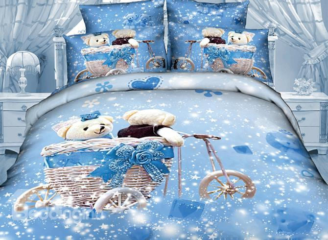 So Cute Bear In Dream Print 3d Duvet Cover Sets