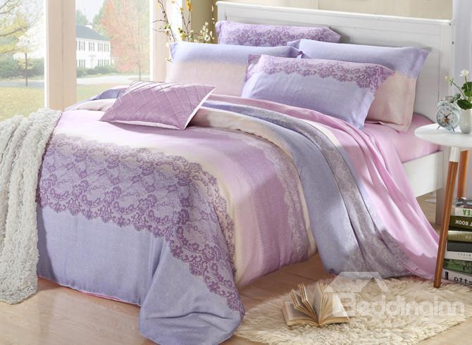 High Quality Elegant Beautiful Patterns 4 Pieces Tencel Bedding Sets