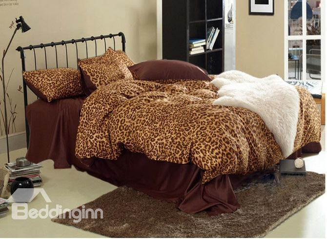 Elegant Sexy Leopard 4 Piece Bedding Sets With 60%Satin Drill 10490251)